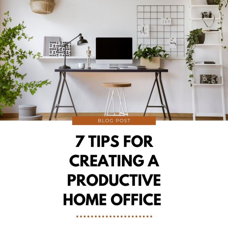 7 Tips for Creating a Productive Home Office in Your Stoke-on-Trent Home